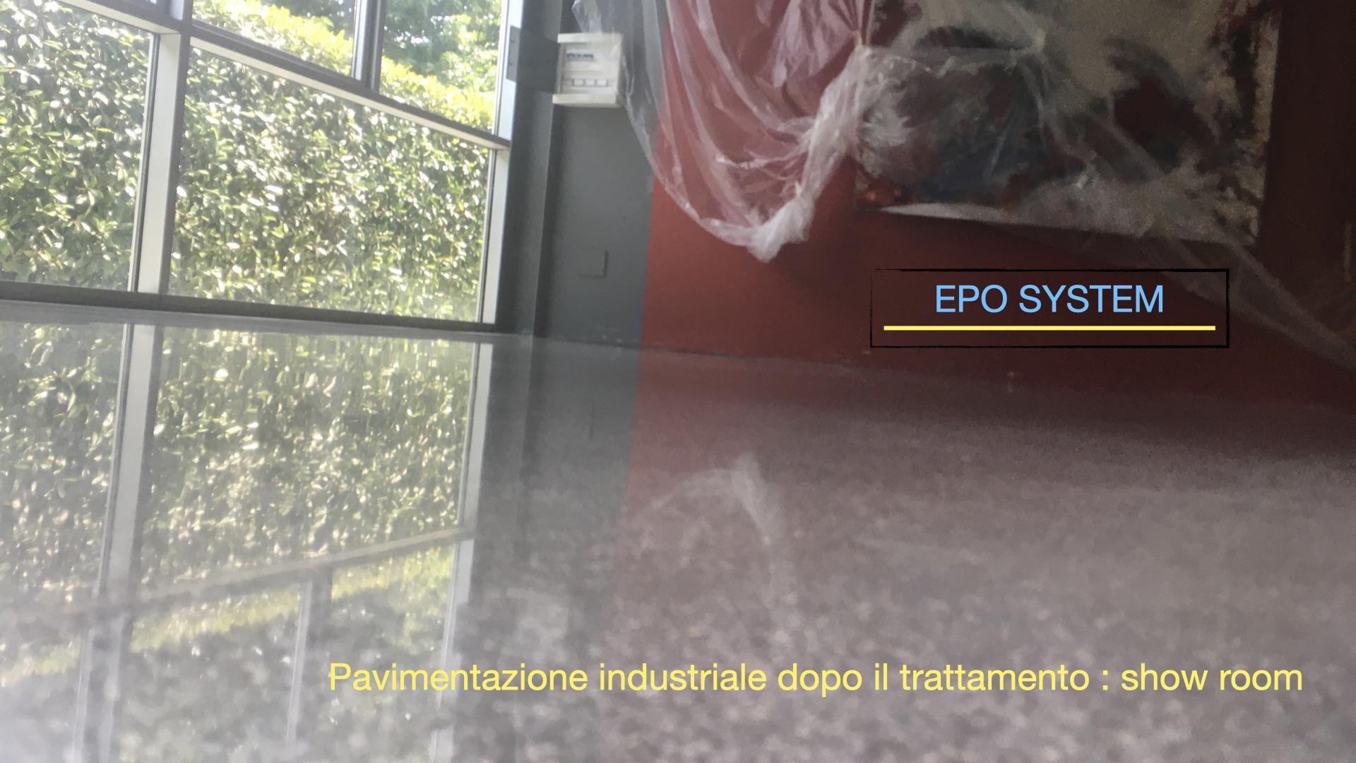 Epo System trattamenti pavimentazioni industriali rinnovo mediante levigatura e lucidatura