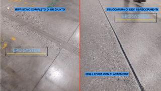 Epo System manutenzioni pavimentazioni industriali giunto degradato